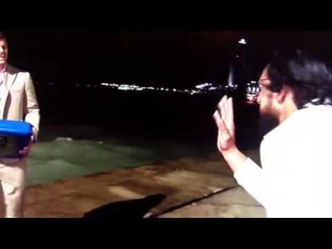 Smackdown July 26 2013 - Cody Rhodes Throws Damien Sandow's Briefcase Into The Ocean
