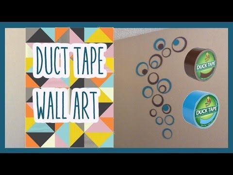 Duct tape wall art diy chris youtube for Duct tape bedroom ideas