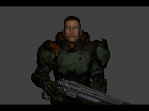 Bj Blazkowicz In Doomguy Armor Youtube
