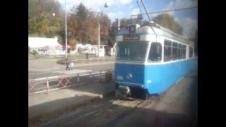 Осень. Винница. Трамвай KT4SU №214 на маршруте №5. Часть 03. Площад...