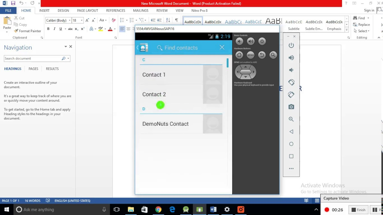 Get Contact List Details Android Studio Programmatically