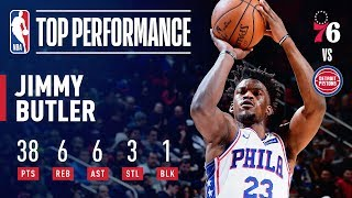 Jimmy Butler Scores 38 and Helps Lead Comeback vs Pistons | December 7, 2018