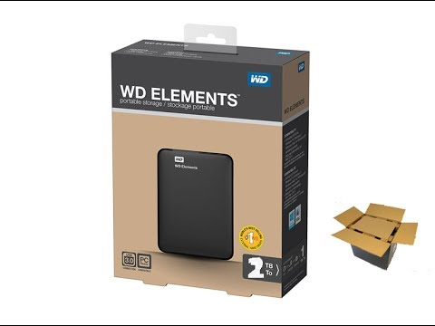 Unboxing Western Digital WD Elements Portable External Hard Disk drive (2 - 4 TB)