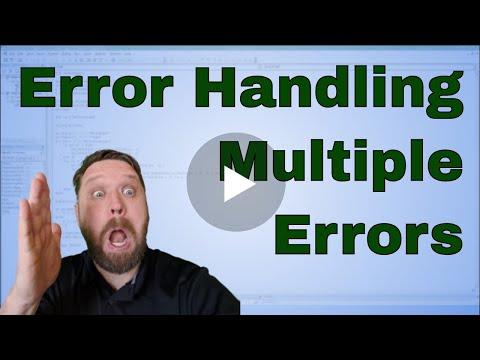 Error Handling Multiple Errors in Excel VBA or Macros - Code Included