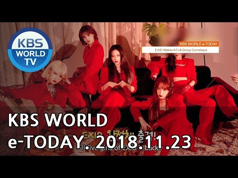 KBS WORLD e-TODAY [ENG/2018.11.23]