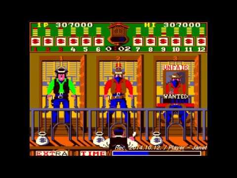 Bank Panic Arcade game playthrough (Until to take First EXTRA Bonus)