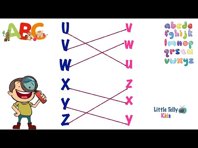 Alphabet Exercise || Match Uppercase & Lowercase Alphabets || Fun Alphabet Exercise for Children