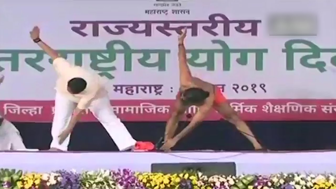 Watch: Thousands of followers perform yoga as Ramdev leads session