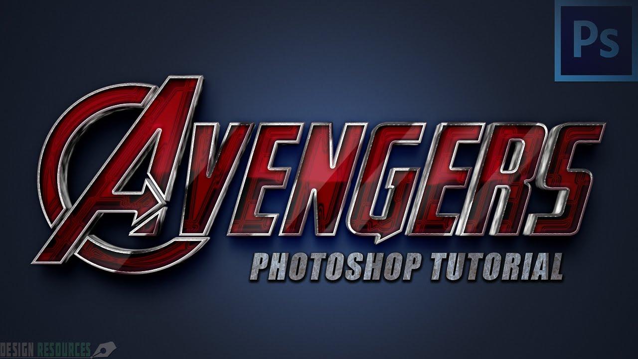 Avengers text style photoshop tutorial youtube baditri Images