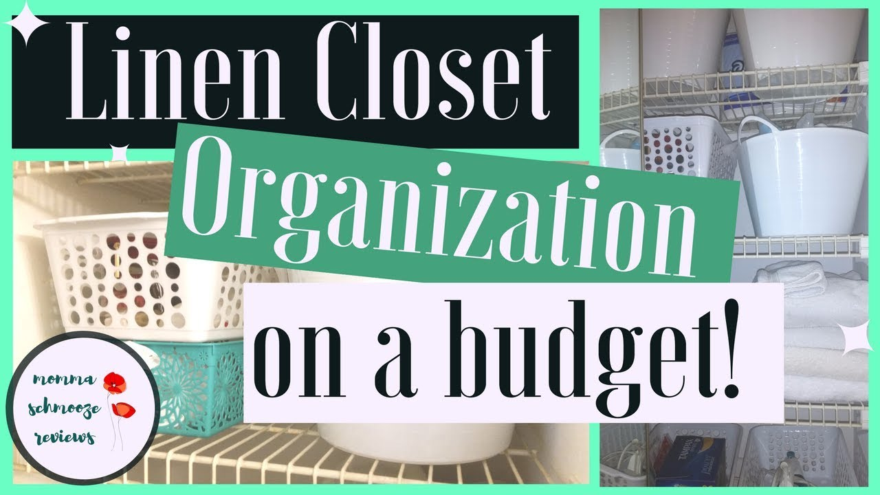 Linen Closet Organization On A Budget Dollar Tree Organizing