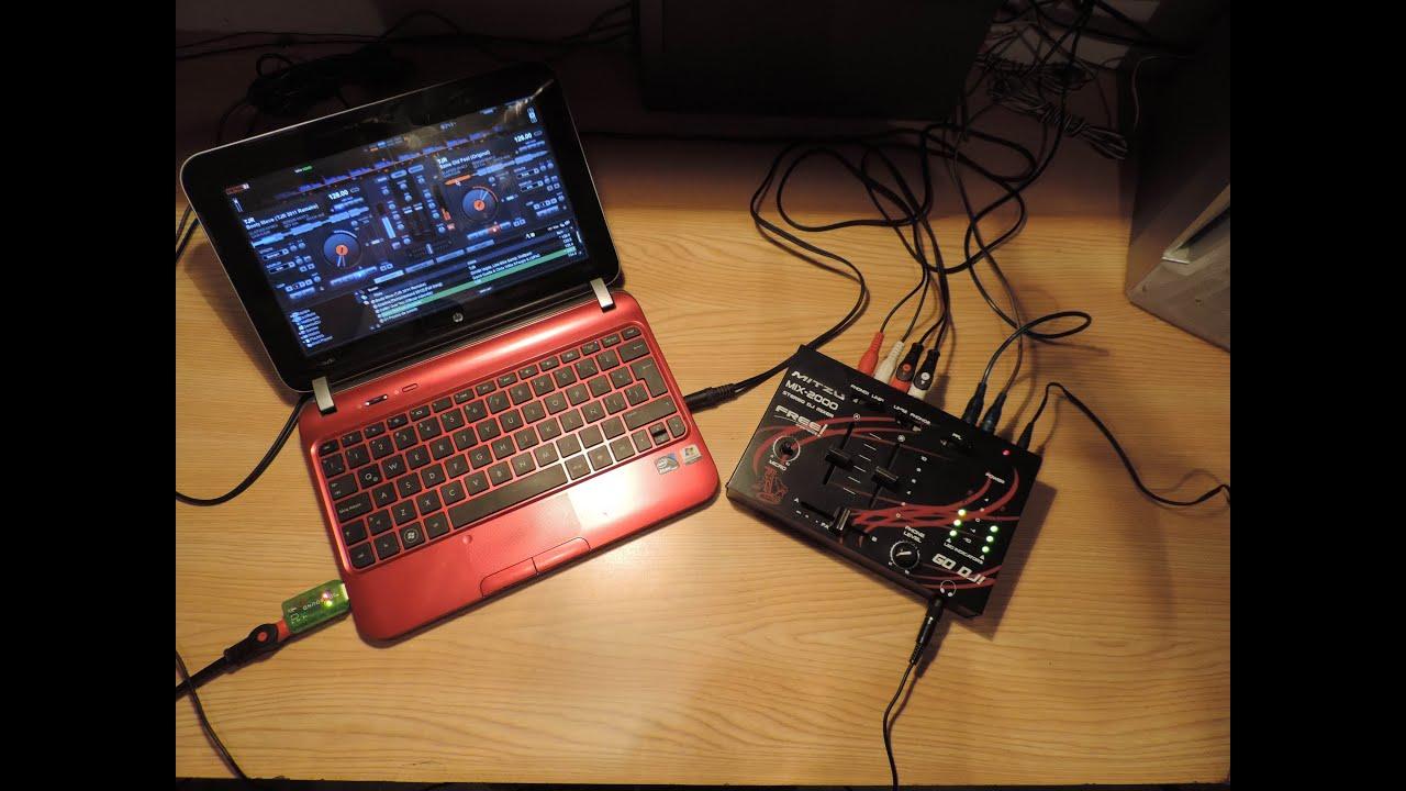 Tutorial c mo conectar una mezcladora a virtualdj7 con - Como hacer una mesa de ordenador ...