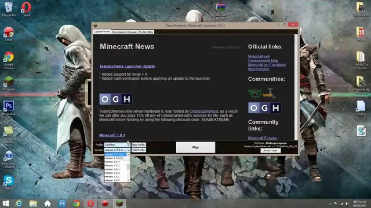 descargar minecraft titan launcher todas las versiones