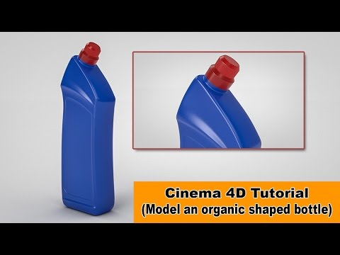 Model an organic shaped Bottle (Cinema 4D Tutorial)