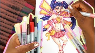 Drawing Winx Club - Musa | Watercolor and COPIC MARKER art