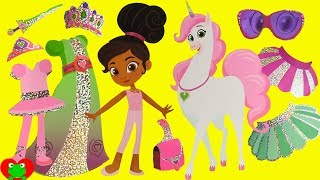 Nella the Princess Knight Sparkling Paper Dolls Fashion Mix and Match