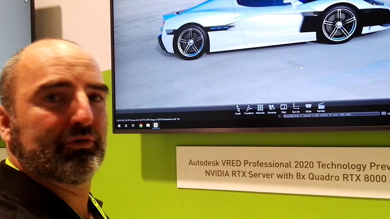 Autodesk VRED 2020 on NVIDIA RTX Server with 8x Quadro RTX 8000