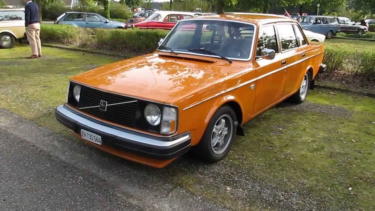 Orange Volvo 244 Gl Sedan With Virgo Turbo Wheels In Good