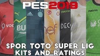 Pes 2019 - Spor Toto Süper Lig Kits And Ratings