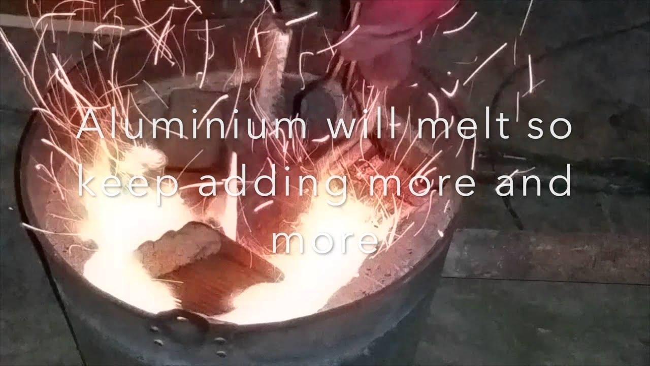 casting u0026 melting aluminium backyard furnace youtube