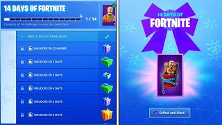 Fortnite 14 days events gifts. how to get free skin - glider - backpack. fortnite free gift 🎁