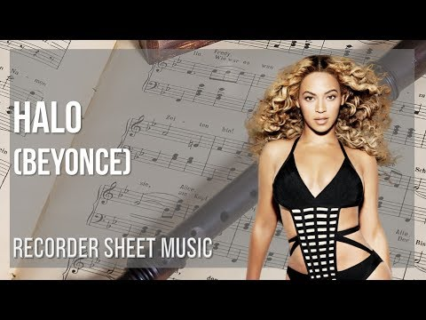 EASY Recorder Sheet Music: How to play Halo by Beyonce