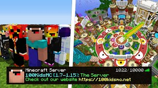 I Hired 100 Kids to Build Me A Minecraft Server at ONCE...