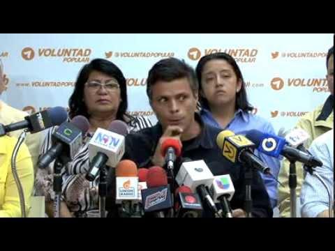 Leopoldo López se la canta al Gobierno