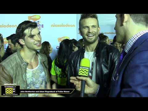 Adam Hagenbuch and John Brotherton of Fuller House  2017 Kids' Choice Awards