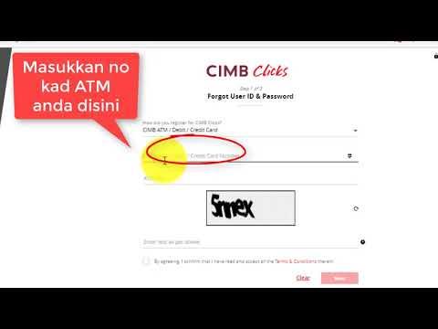 Lupa Id Dan Kata Laluan Cimb Clicks Dan Bagaimana Cara Buat Youtube