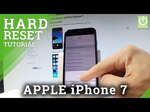 How to Hard Reset APPLE iPhone 7 - Restore iOS / Factory Reset