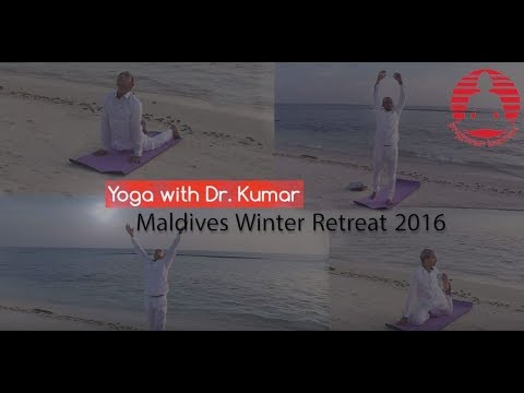 Daily Yoga Practice with Dr.Kumar, Maldives Retreat 2016