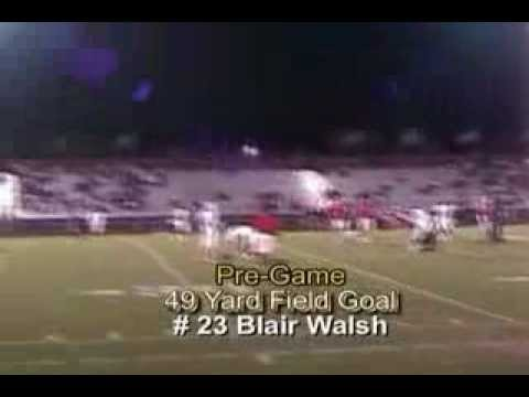 Blair Walsh High School (2006) Junior Season Kicking Highlights