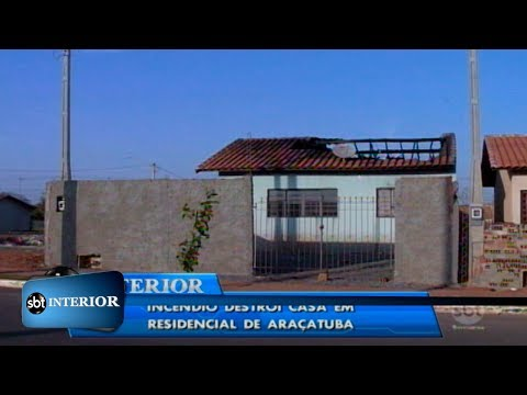 Incêndio atinge casa no bairro Porto Real 2, em Araçatuba