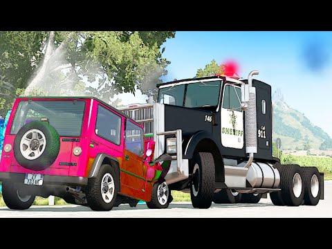 НОВЫЙ МУЛЬТФИЛЬМ про машинки для мальчиков GTA 5 аварии гонки в городе игра машина разбивается