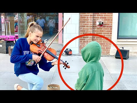 The boy kissed me during my street performance   Warrior by Karolina Protsenko   Violin Cover