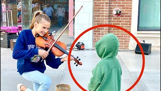 The boy kissed me during my street performance | Warrior by Karolina Protsenko | Violin Cover