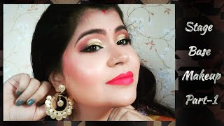 Stage Makeup Tutorial for Theater and Dance Performances.Base Makeup, Part-1. Bengali video.