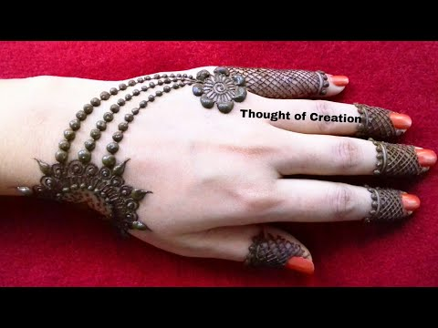 Jewellery Mehndi Design 2018|Easy and Simple Mehndi Design for Beginners