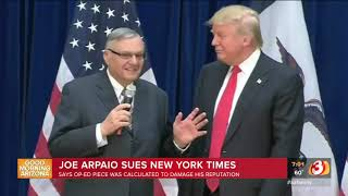 VIDEO: Joe Arpaio suing New York Times for defamation