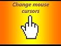 How to change mouse cursor to middle finger