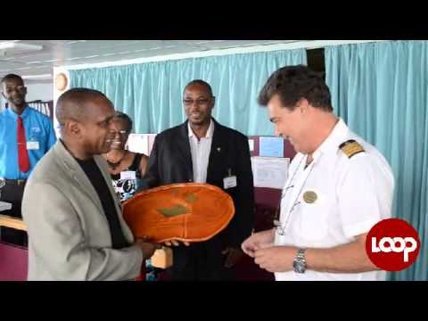 Loop News Barbados - MS Hamburg welcomed to Bridgetown Port