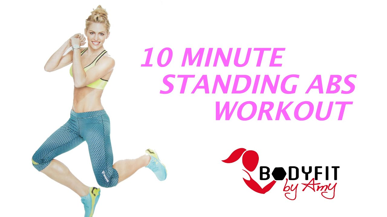 10 Minute Standing Abs No Crunch Workout Youtube