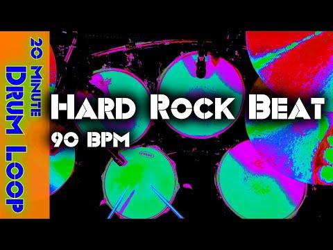 20 Minute Backing Track - Hard Rock Drum Beat 90 BPM