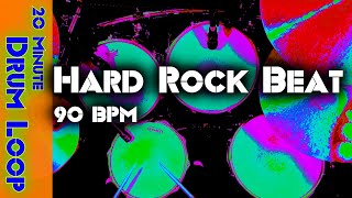 20 Minute Backing Track - Hard Rock Drum Beat 90 BPM