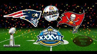 Madden 2003 PS2 Gameplay: Super Bowl XXXVII Tampa Bay Buccaneers 24 New England Patriots 21