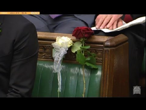 Speaker John Bercow honoring murdered Jo Cox
