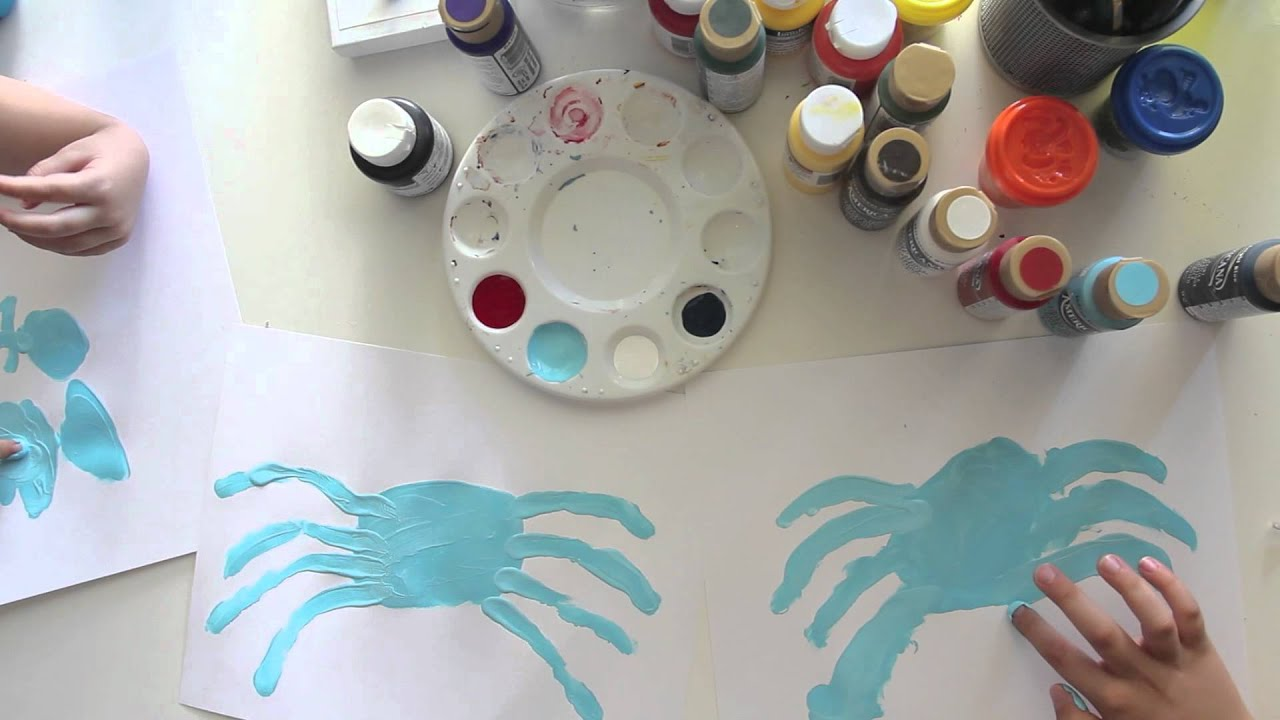 Finger Painting A Spider