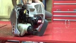 Small Engine Repair: Adjusting the low speed carburetor circuit on a Ryobi Blower