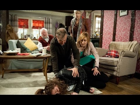 Emmerdale - Gabby collapses and is taken to hospital