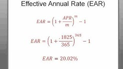 Time Value of Money (Apr vs. EAR)
